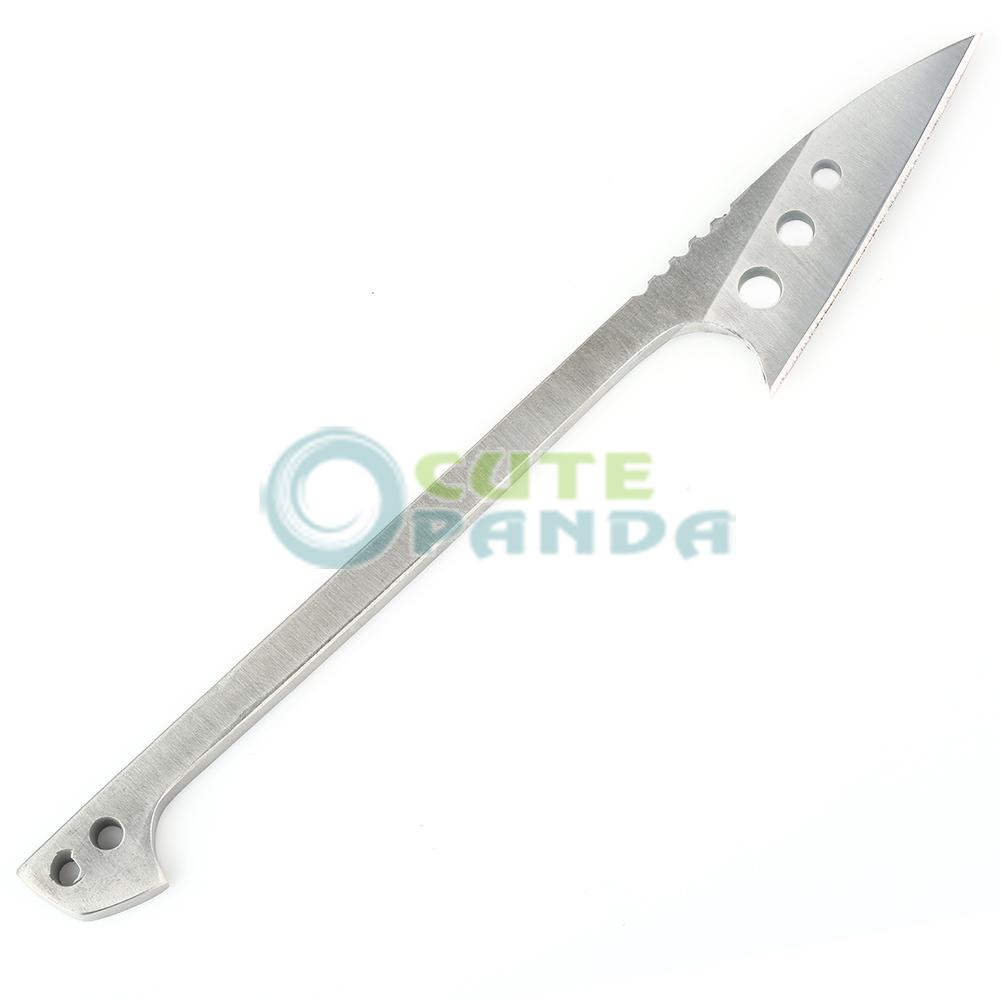 Outdoor Full Smooth Edge Blade Knife Fishing Harpoon Flake EDC Survival Tool