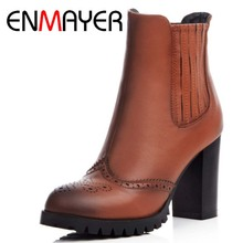 ENMAYER New Fashion Sexy Ankle Boots High Heels Punk Rock Platform Boots High Heel Women Winter Fashion Boots for Shoes Women