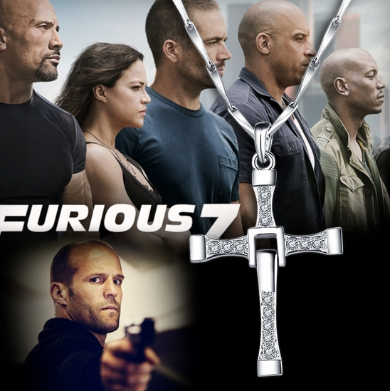 Fashion Star cross necklace Fast & Furious 7 Toledo personalized titanium steel Men pendant necklaces men's Jewelry accessories(China (Mainland))