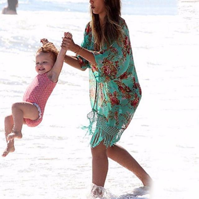 Сексуальная уютный кисточки шифон солнцезащитный крем кардиган кафтан бикини прикрыть пляж платье купальники