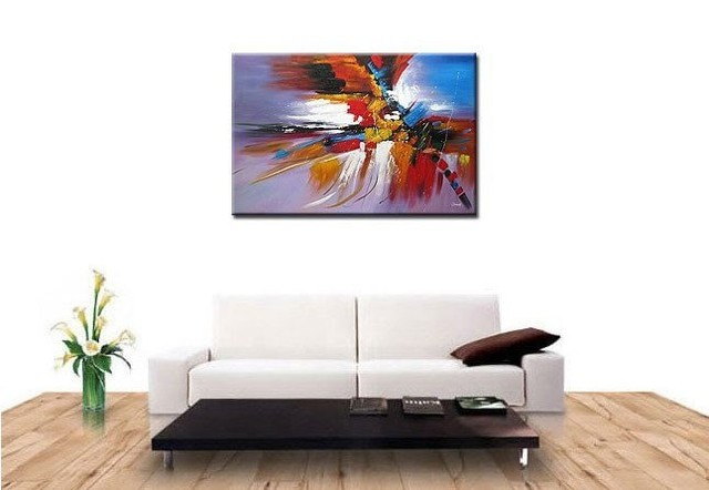 Hand-painted wall art Warm Passion sunshine beside the sea home decoration abstract Landscape oil painting on canvasmixorde