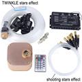 16W RGBW RF remote TWINKLE LED Fiber Optic Star Ceiling Light Kit 335pcs 0 75 1