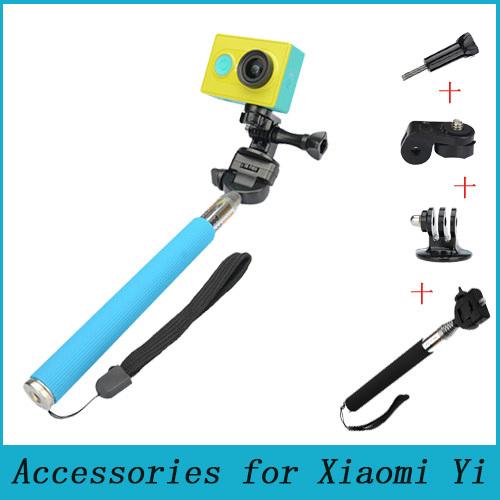 OEM Xiaomi yi Selfie Gopro Hero 3 4 SJ4000 Xiaoyi Selfie Stick vamson for gopro accessories set for go pro hero 6 5 4 3 kit 3 way selfie stick for eken h8r for xiaomi for yi eva case vs77