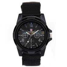 New Solider Military Army Men's Sport Style Canvas Belt Luminous Quartz Wrist Watch 4 Colors 027E