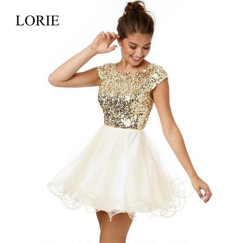 Online Get Cheap Sparkly Gold Short Prom Dresses -Aliexpress.com ...