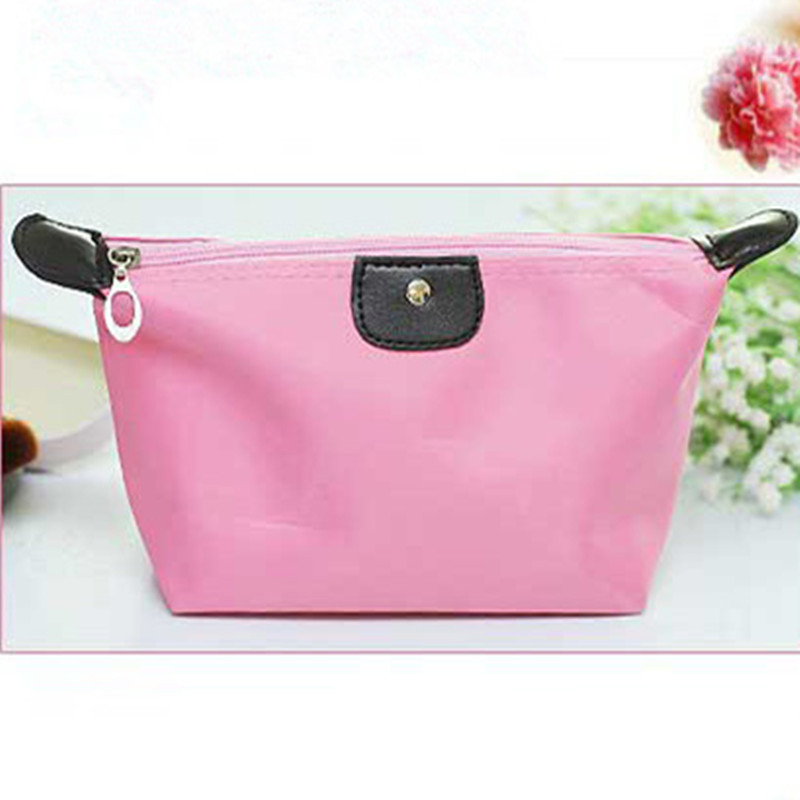 Fashion Pink Women Travel Cosmetic Case Lady Make Up Pouch Bag Clutch Handbag Storage Bag Casual Purse Holder Zipper(China (Mainland))