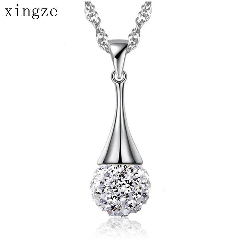 2016 New Full-Diamond Ball Shambhala CZ Diamond Silver Plated Pendants Women's Fine Jewelry Wholesale(China (Mainland))