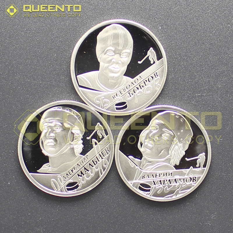 3 style 2009 USSR Outstanding Sportsmen Athlete of Russia Ice Hockey Player Olympic Game Champion 2 Ruble Russian Coins(China (Mainland))
