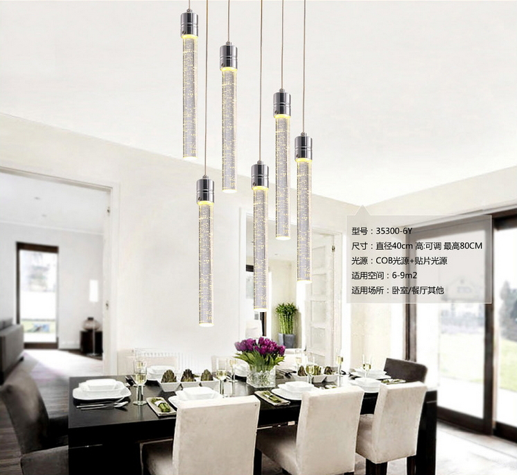Contemporary Pendant Lights Modern LED Bubble Crystal