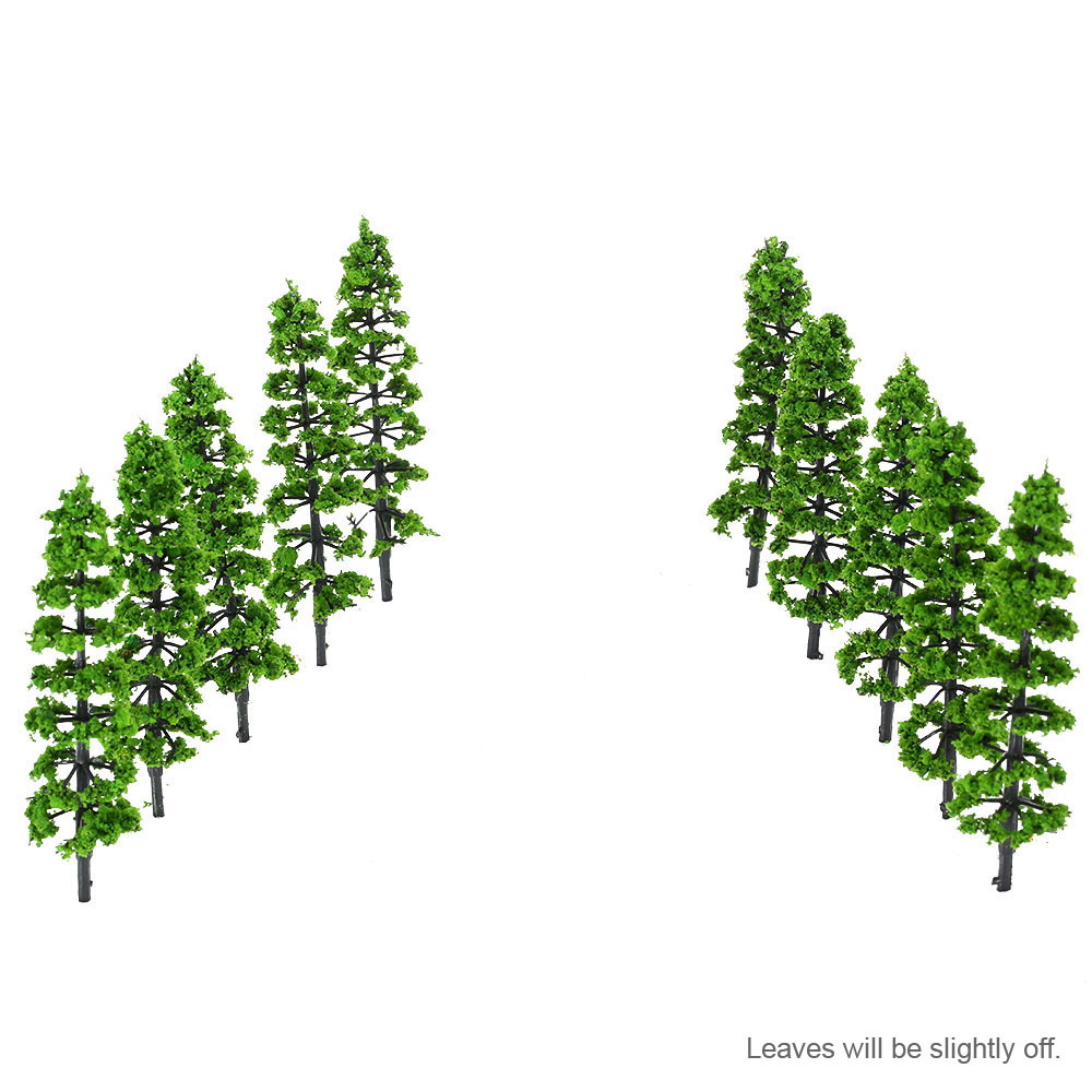10 Pcs Plastic Model Trees Architectural Model Railroad Layout Garden Landscape Scenery Weddings Diorama Miniatures Model Toy(China (Mainland))