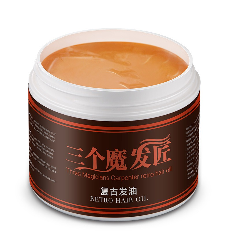 Men Styling Products Strong Style Restoring Pomade Hair Wax Skeleton Cream Slicked Oil