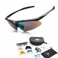 ROBESBON Professional Unisex Cycling Sunglasses UV 400 Non Slip Bicycle Climbing Glasses Eyewear with 5 Lens