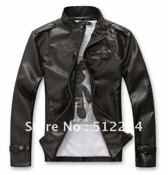 The new 2012 free delivery of men's clothing brand fashion locomotive leather jackets