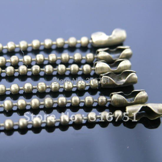 """Hot Sale Free Shipping 10 Strand Bronze Tone Ball Beads Chain Necklace 2mm Bead Connector 70cm(27"""")(w01753 X 1) Aa(China (Mainland))"""