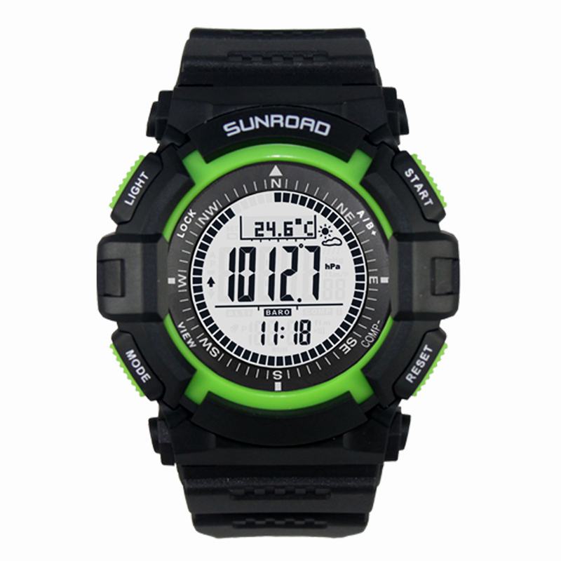 FR822A Waterproof EL backlight Digital Compass Altimeter Barometer Fishing Watch Pedometer Calorie Distance Record - SHEN ZHEN IN-COLOR TRADING CO., LIMITED store