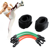 Training Workout Leg Fitness Strength Resistance Kinetic Tube Bands For Power Kick Boxing Thai Punch Karate