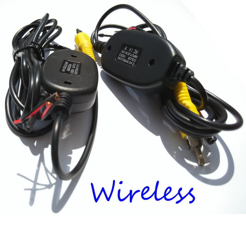 2.4 Ghz Wireless RCA Video transmitter Receiver kit for car dvd car monitor car Wifi Wirelesss rear view camera reverse backup(China (Mainland))