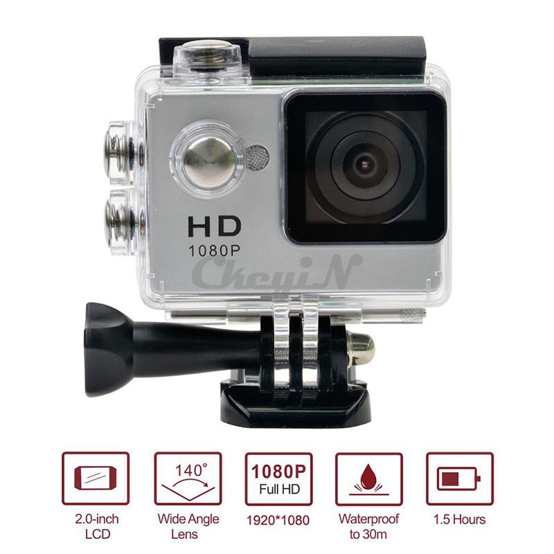 Multi lingual 2 0 LCD Screen Action Cam 30m Waterproof Camera Full HD 1080P mini Sports