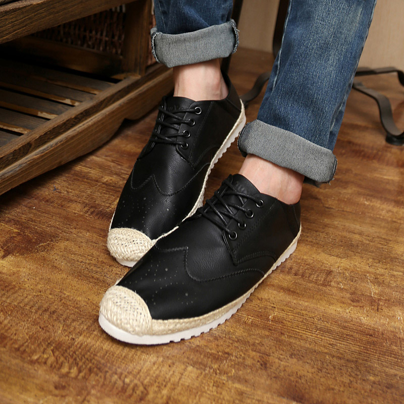 2015 autumn peas shoes fashion Korean male shoes slip-on British boat shoes breathable shoes casual shoes<br><br>Aliexpress