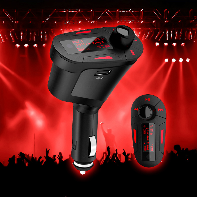 Authentic Korean car mp3 player digital song selection insert U disk card FM transmitter AUX outputs shipping(China (Mainland))