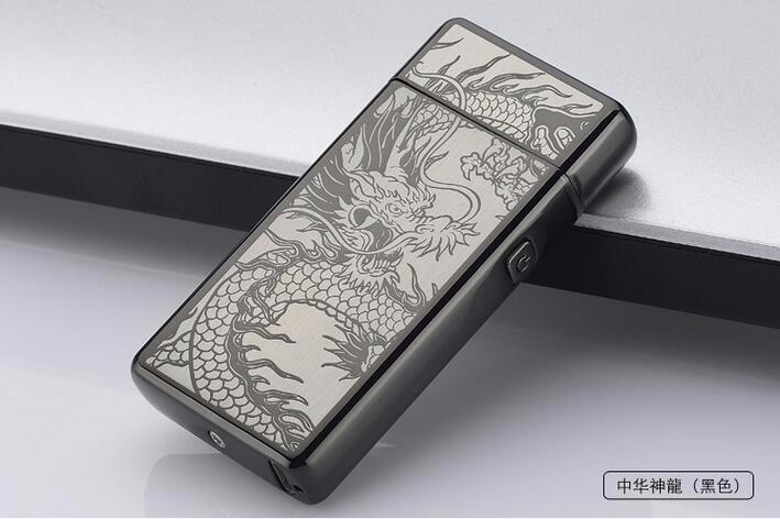 ถูก 100ชิ้น/ล็อตไฟฟ้าArc Flamelessเบาquelityสูงลมแบบชาร์จไม่มีก๊าซUSBไฟแช็กอุปกรณ์การสูบบุหรี่