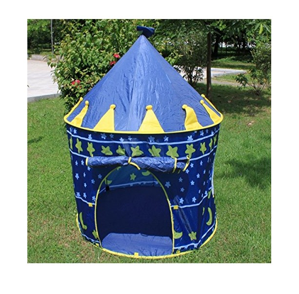 Blue Portable Folding Indoor Outdoor Kids Children Princess Palace Castle Play Tent Pop Up Cubby Playhouse for Garden Beach Camp(China (Mainland))