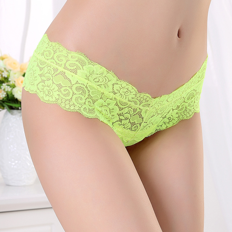 1PCS Brand Sexy G String Thong Underwear Women Tanga Lace G String Seamless Sexy Transparent Panties
