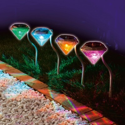 Waterproof Outdoor Solar Power Lawn Lamps LED Spot Light Garden Path Stainles Steel Landscape Luminaria