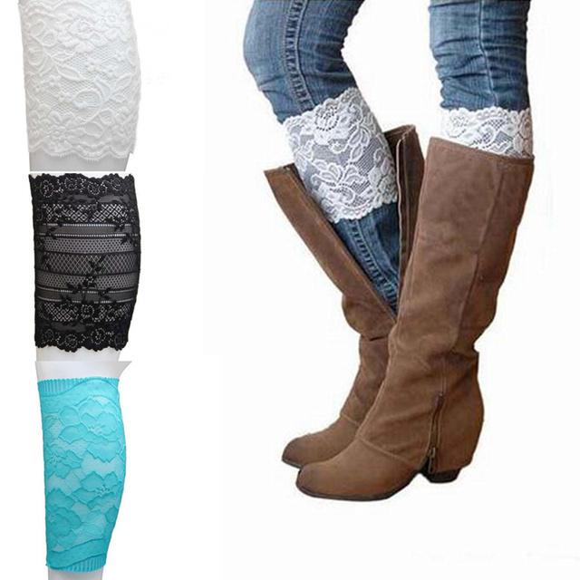 1 пара сексуальные кружева гетры эластичный носок ботинка манжеты сапоги носки для ...