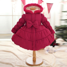 parkas girl clothing brand kid winter children outerwear coats girls jacket children's wear cotton-padded clothes Christmas coat