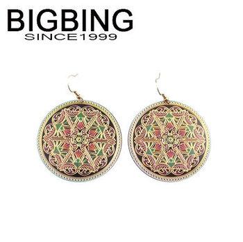 Bigbing мода аксессуары качество круглый серьги мода мотаться серьги мода ювелирные изделия J819