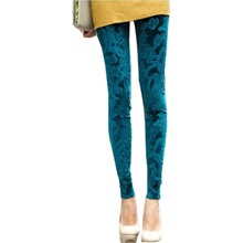 Spring and autumn 2016 new arrival fashion Women Leggings high elastic plus size cashmere gold slim knitted legging 13810LY(China (Mainland))