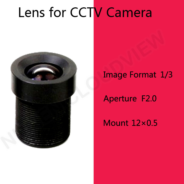 Free shipping 8mm lens for CCTV camera cctv camera lens Security CCTV Lens IR camera Lens