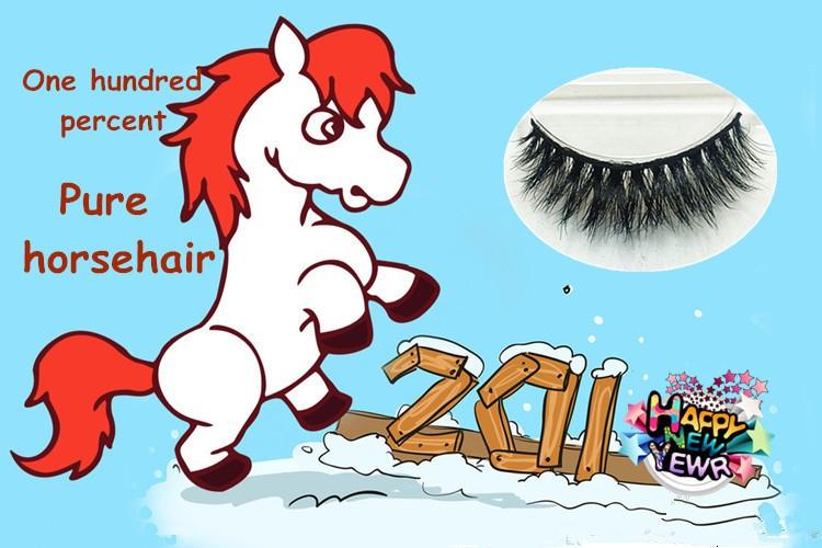 New package 1 pair Horse Hair False Eyelash Extension H07 Makeup Cosmetics Natural Long Crisscross Fake Eye Lash Free shipping
