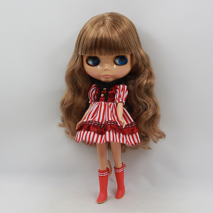 Bythe doll nude mini plastic dolls brown color long hair with bangs light tan muscle baby dolls for girl gifts<br><br>Aliexpress