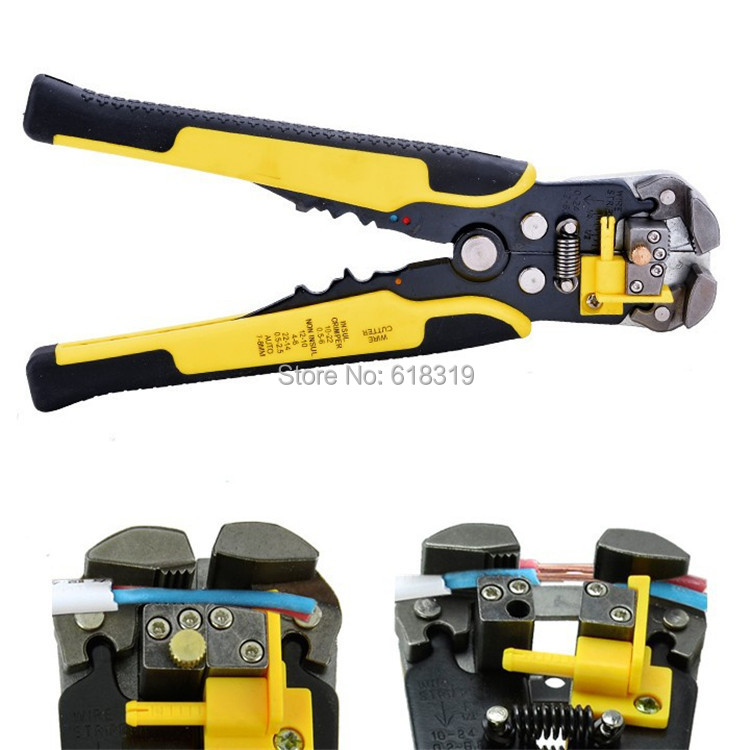 Automatic Cable Wire Stripper Self Adjusting Crimper Terminal Cutter Tool AWG24-10(0.2-6.0MM2)(China (Mainland))