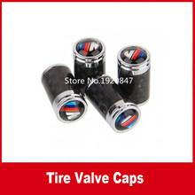 4PCS Carbon FIiber Car Tire Valve Stem Cap Dust-proof Cover For M 1 3 5 6 7 Series X1 X3 X4 X5 X6 M3 M4 M5 M6 i3 i8(China (Mainland))