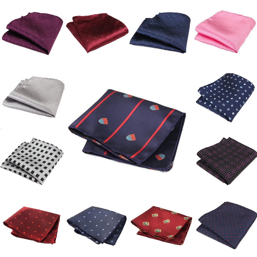 Upscale Polka Dot Formal Suits Pocket Squares Fashion Men's Handkerchief 20 Styles Pocket Square Hanky for Men Wedding Party(China (Mainland))