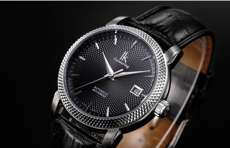 Ik мужчина смотреть полностью автоматические механические часы мужские часы casual male часы
