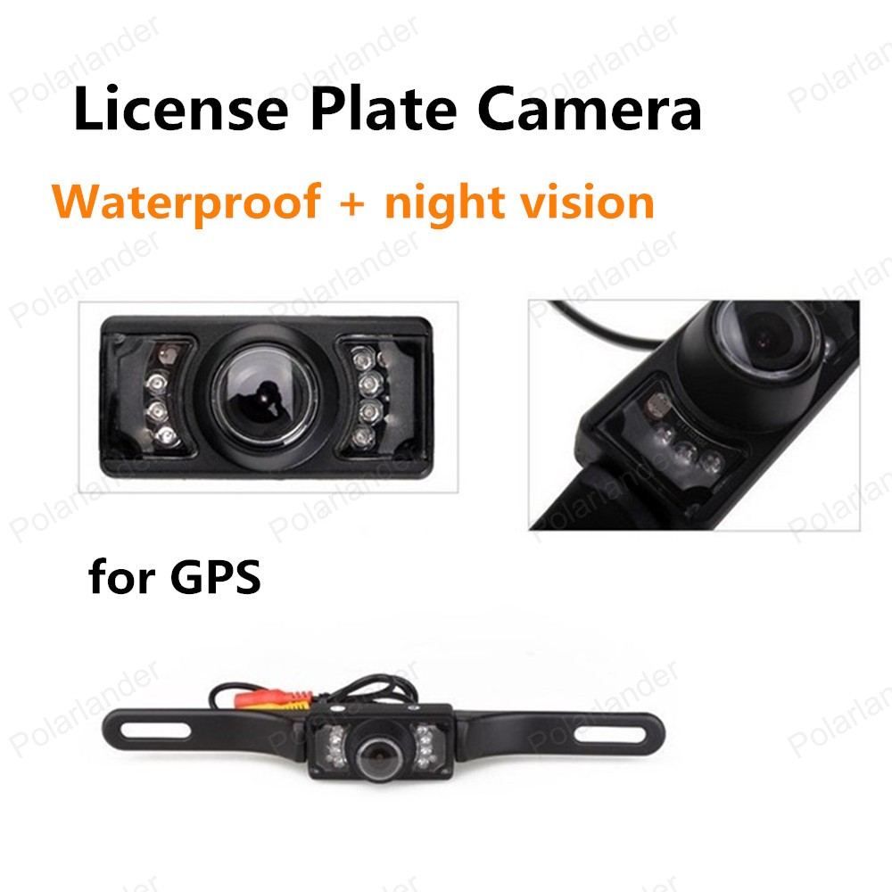 hot sell night vision 2.4G Wireless for GPS License Plate Frame Waterproof Car Rear View Reversing Camera(China (Mainland))