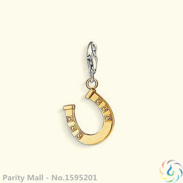 Gold Plated Lucky Horseshoe Charm Thomas Style Charm Club Good Jewelry In silver-plated Fit Bag Bracelet(China (Mainland))