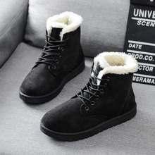 Bayan Botları Sıcak Kış Kadın Ayakkabı Artı Boyutu Kadın Sahte Süet bileğe kadar bot Kadın Botas Mujer Peluş Bayanlar Kar Botları WSH3132(China)