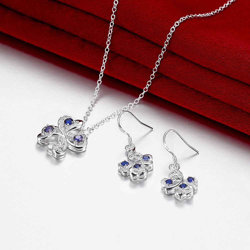 Jwellery Set Flower Shape Pendant Necklace Earring Sets Wholesale(China (Mainland))