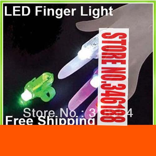 1000pcs/lot LEEAO Free Shipping Finger Light Laser Lights LED Finger Light finger lamp creative toys(China (Mainland))