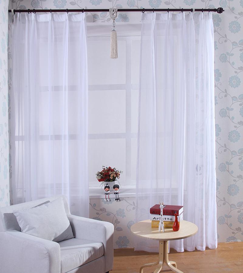 Compra cortinas de hilo blanco online al por mayor de for Cortinas en blanco