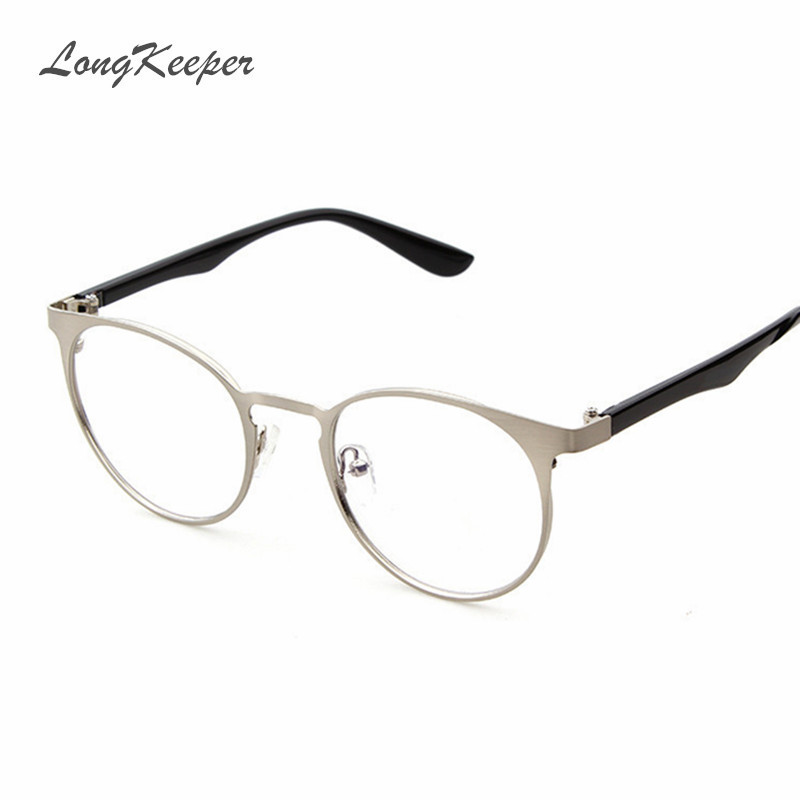 2016 new women glasses frame brand designer men glasses cat eye optical frames clear lens metal