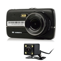 4 inch Car DVR Full HD 1080P Dual Cameras Sync Digital Video Recorder Rear View Camera
