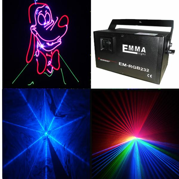 Full Color Laser Show Light / Attractive Multicolor Led Laser Light For Bar