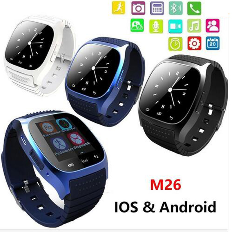 bluetooth smart watch m26 reloj inteligente anti lost. Black Bedroom Furniture Sets. Home Design Ideas
