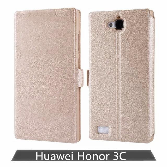 Luxury Cover For Huawei Honor 3C Mobile Phone Cases Cover Flip Window Leather Protective Cover Retail And Wholesale(China (Mainland))